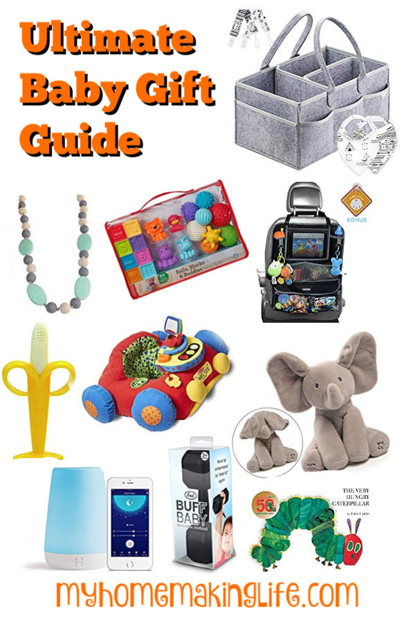 This Baby Gift Guide lays out the best of the best infant gifts for any occasion. Whether it be a baby shower, Christmas, first birthday, or just because, you will find the perfect gift for the infant in your life!