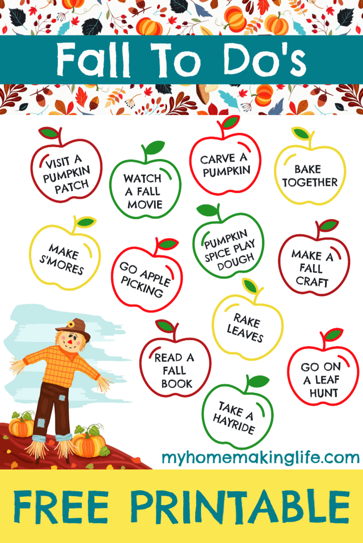 This Fall Toddler Checklist is sure to bring some autumn activity magic to your family! There are all kinds of fall activities for toddlers. You can also get a free printable! #autumn #fall #fallactivities #toddleractivities